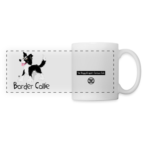 CartoonClub BorderCollie (Black & White) | mug - Panoramic Mug
