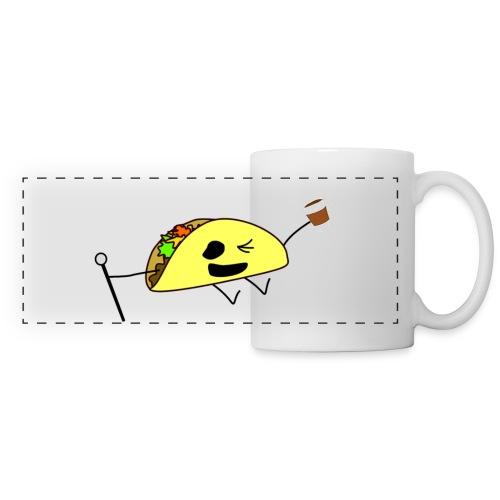 Fancy Taco med en kaffe - Panoramamugg
