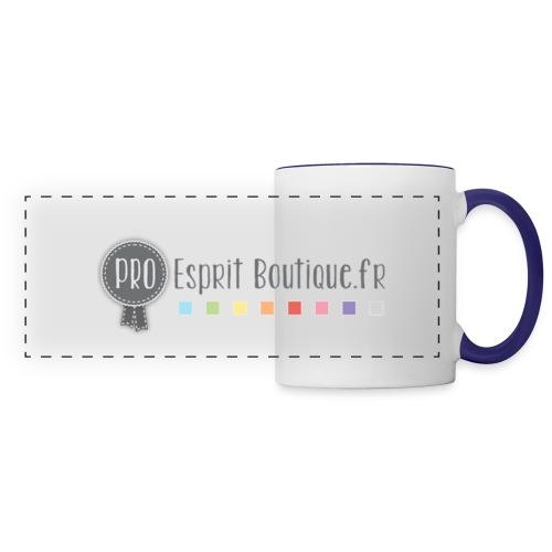 logo eb png - Mug panoramique contrasté et blanc