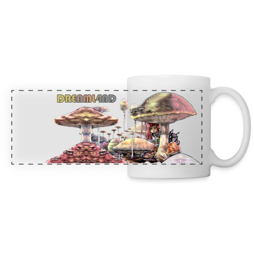 mushroom fields hongos 3 edges cropped alpha var14 - Panoramic Mug