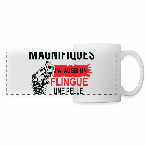 J'AI DEUX FILLES MAGNIFIQUES Best t-shirts 25% - Mug panoramique contrasté et blanc
