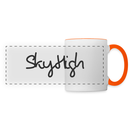 SkyHigh - Women's Premium T-Shirt - Black Lettering - Panoramic Mug