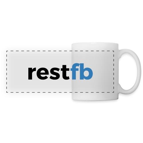 RestFB logo black - Panoramic Mug