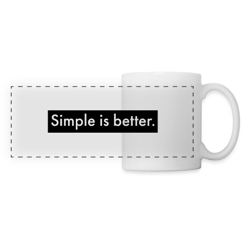 Simple Is Better - Panoramic Mug