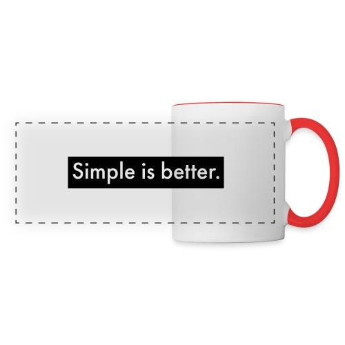 Simple Is Better - Panoramic Mug