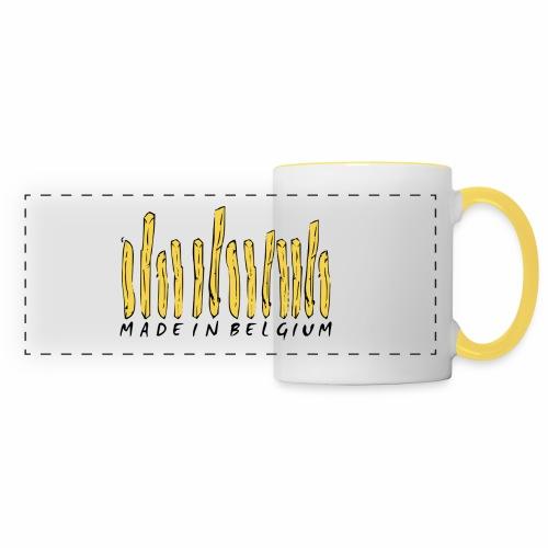 Made In Belgium Frites - Mug panoramique contrasté et blanc