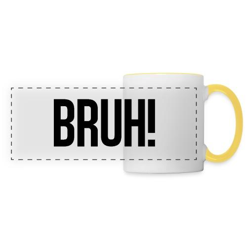 bruh - Mug panoramique contrasté et blanc