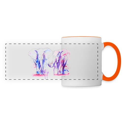 Mug éléphants - Mug panoramique contrasté et blanc