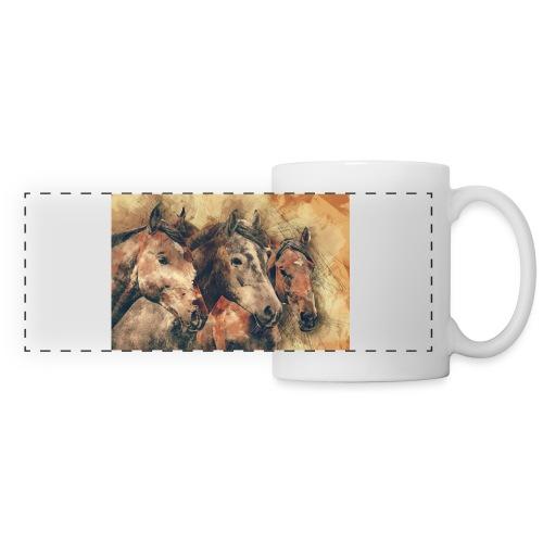 horses - Mug panoramique contrasté et blanc