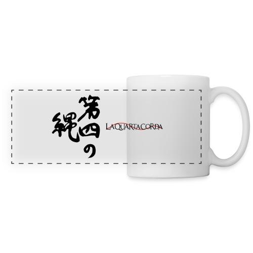 Calligraphy and logo La quarta corda (black) - Tazza con vista