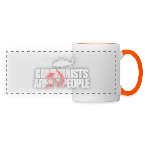 Communists aren't People (White) (No uzalu logo) - Panoramic Mug