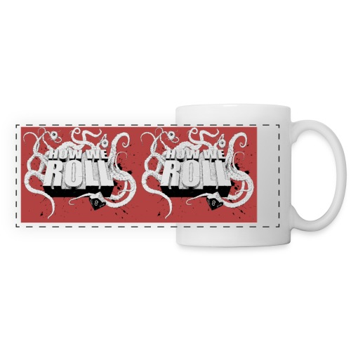 How We Roll RED MUG jpg - Panoramic Mug