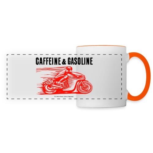 Caffeine & Gasoline black text - Panoramic Mug
