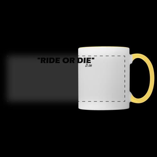 Ride or die (noir) - Mug panoramique contrasté et blanc