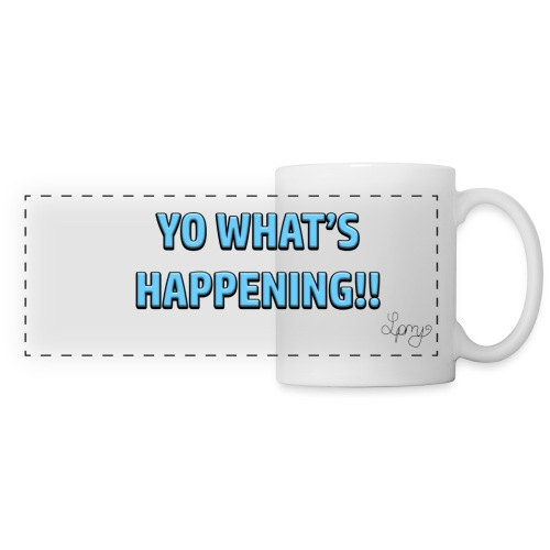 yo what s happening png - Panoramic Mug