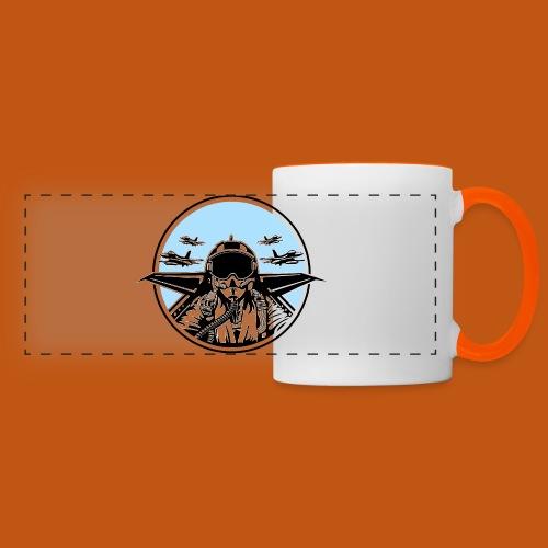 Jet Pilot / Kampfpilot 01_weiß Schwarz - Panoramatasse