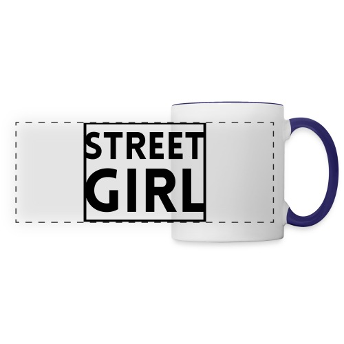 girl - Mug panoramique contrasté et blanc