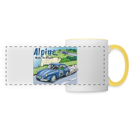 Polete en Alpine 106 - Mug panoramique contrasté et blanc