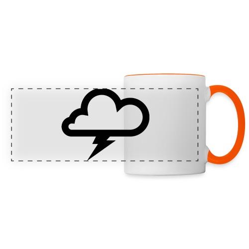 Wolke mit Blitz - Panoramatasse