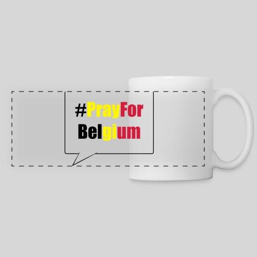 #PrayForBelgium - Mug panoramique contrasté et blanc