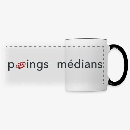 Poings médians - Mug panoramique contrasté et blanc