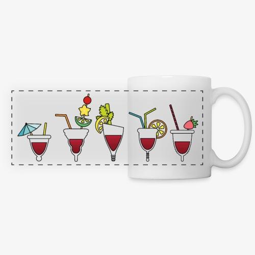 Soirée cuptails - Mug panoramique contrasté et blanc