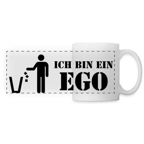 Ich bin ein Ego / sich selber mal beschenken! - Panoramatasse