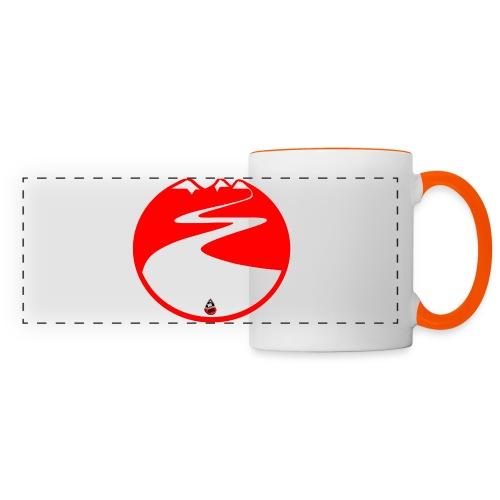 Montagne rouge - Mug panoramique contrasté et blanc