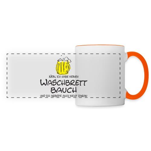 Waschbrettbauch; - Panoramatasse