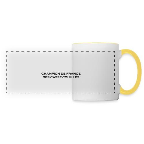 design castres - Mug panoramique contrasté et blanc