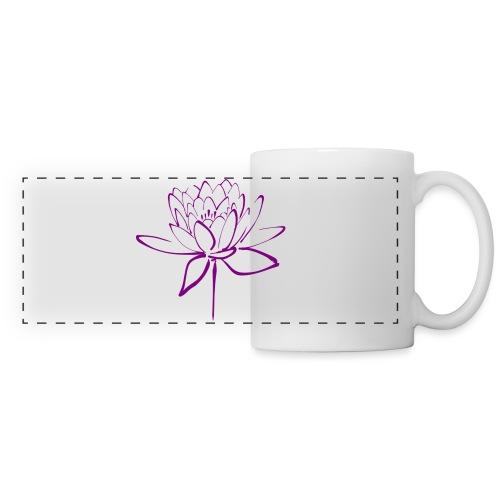 Lotus - Mug panoramique contrasté et blanc