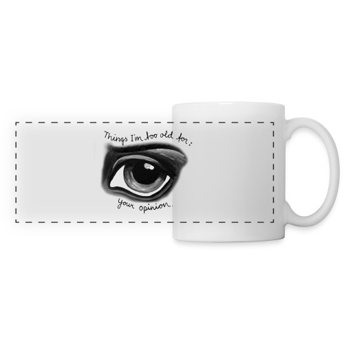 EyeOpinionBigText png - Panoramic Mug