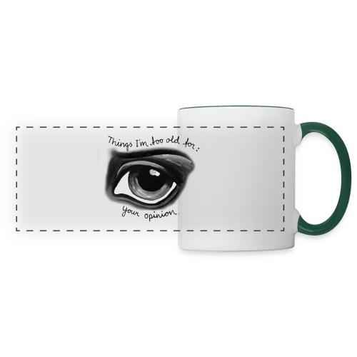 EyeOpinionBigText png - Panoramic Mug