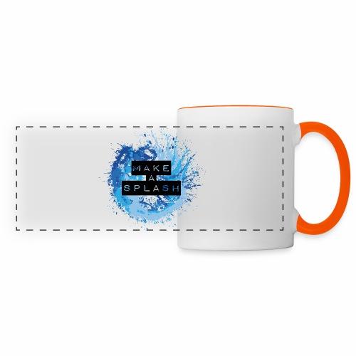Make a Splash - Aquarell Design in Blau - Panoramatasse