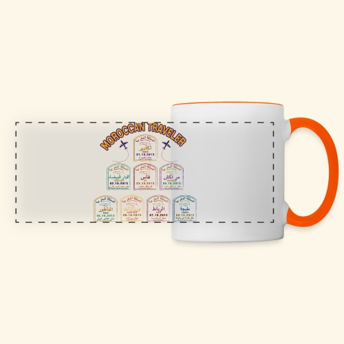 Moroccan Traveler - Mug panoramique contrasté et blanc