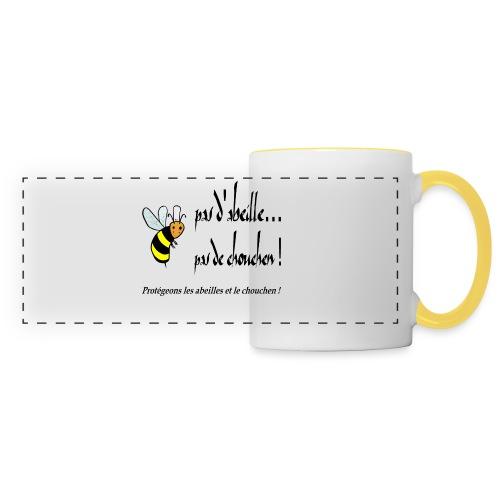 Pas d'abeille, pas de chouchen - Mug panoramique contrasté et blanc