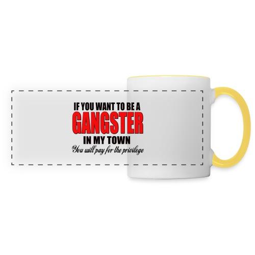 ville gangster - Mug panoramique contrasté et blanc