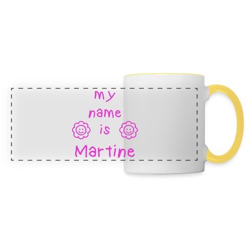 MARTINE MY NAME IS - Mug panoramique contrasté et blanc