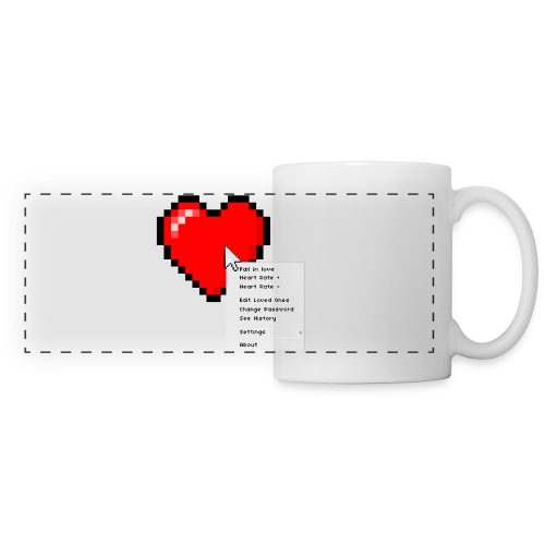 Options of the heart on a mug - Panoramakrus