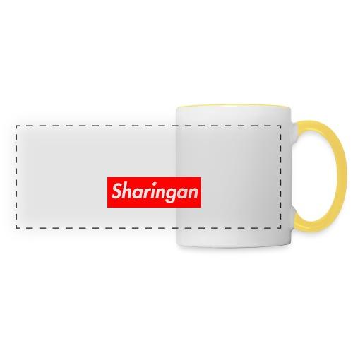 Sharingan tomoe - Mug panoramique contrasté et blanc