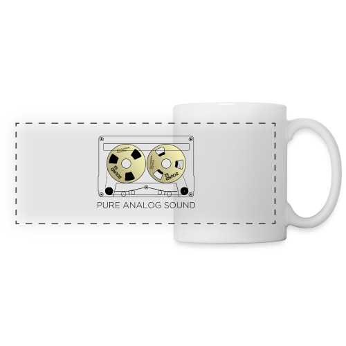Reel gold cassette white - Panoramic Mug