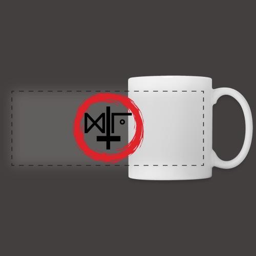 Logo Gu Croix Noir - Mug panoramique contrasté et blanc