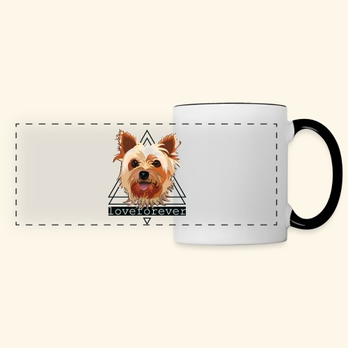 YORKIE LOVE FOREVER - Taza panorámica