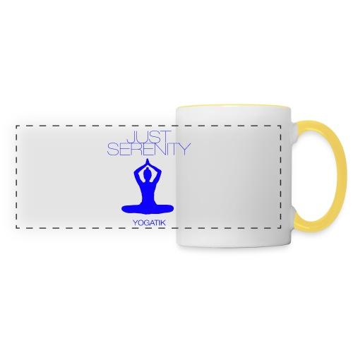 yogatyk blue - Mug panoramique contrasté et blanc