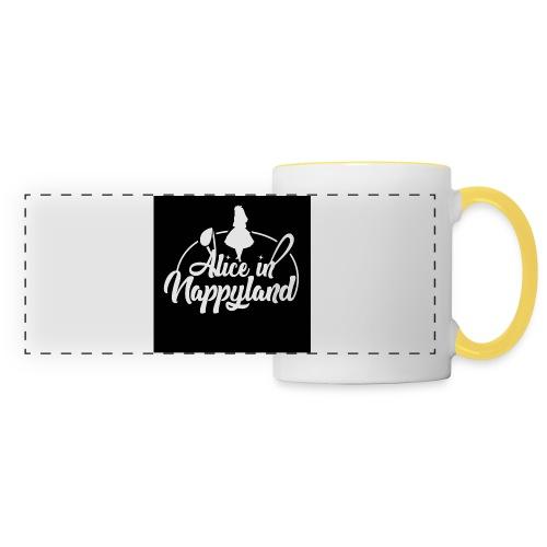 Alice in Nappyland TypographyWhite 1080 - Panoramic Mug