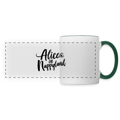Alice in Nappyland Typography Black 1080 1 - Panoramic Mug