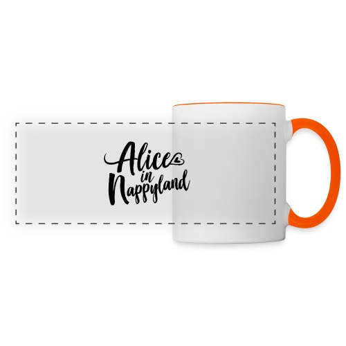 Alice in Nappyland Typography Black 1080 1 - Panoramic Mug