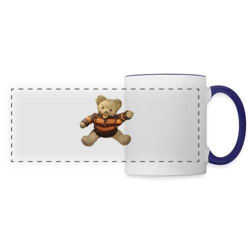 Teddybär - orange braun - Retro Vintage - Bär - Panoramatasse