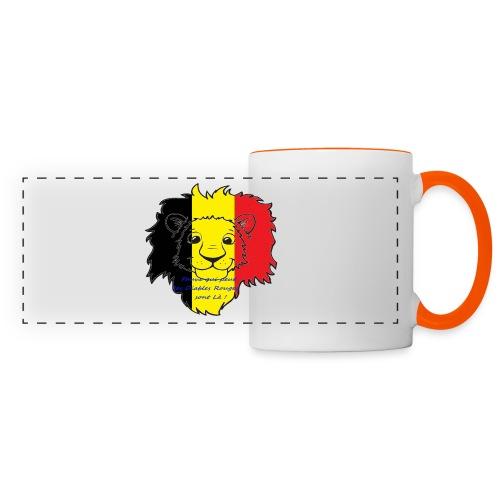 Lion supporter Belgique - Mug panoramique contrasté et blanc