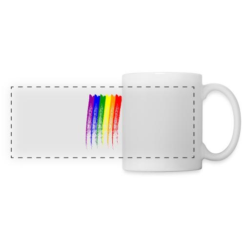 LGBT Brush Design - Mug panoramique contrasté et blanc